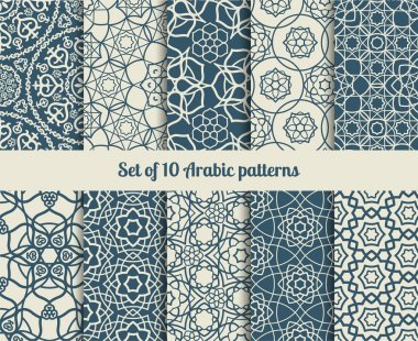 Vector arabic patterns
