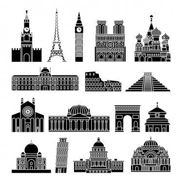 Travel Landmarks Icons