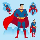 Fotografie Superhero poses set