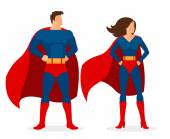Fotografie Superhrdina dva ploché Superman a Superwoman