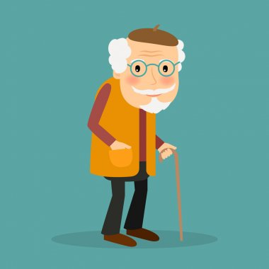 Old man vector character