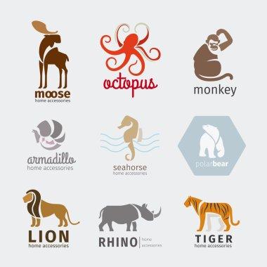 Animals vector logos