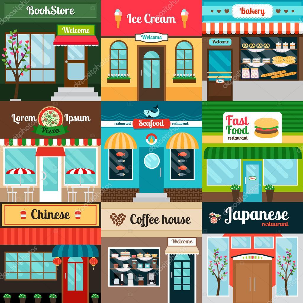 Diferentes tipos de fachada de restaurantes de comida for Tipos de restaurantes franceses