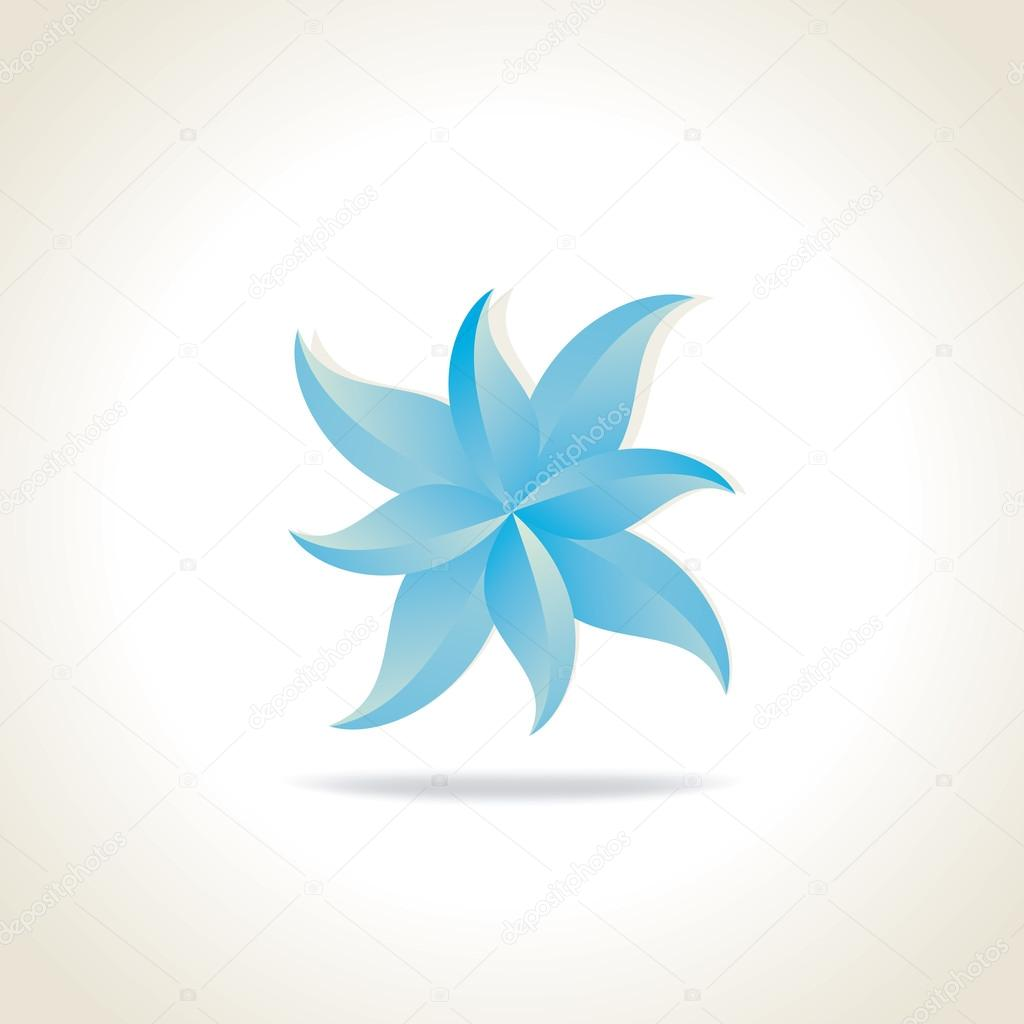 flower round of leaf vector