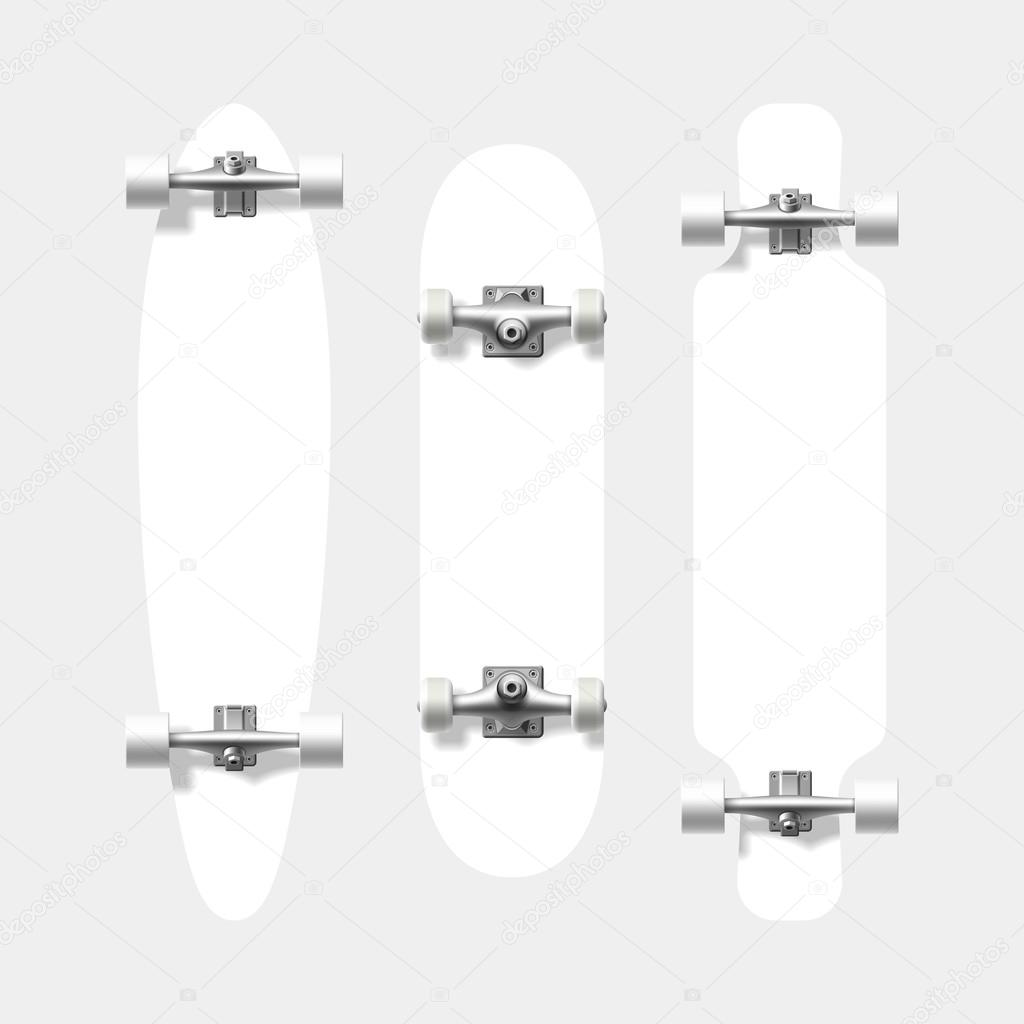 Leere Skateboard und Longboard Formen — Stockvektor © Alhovik ...