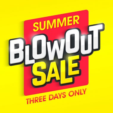 Summer Blowout Sale banner