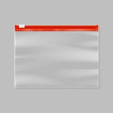 empty transparent zipper bag