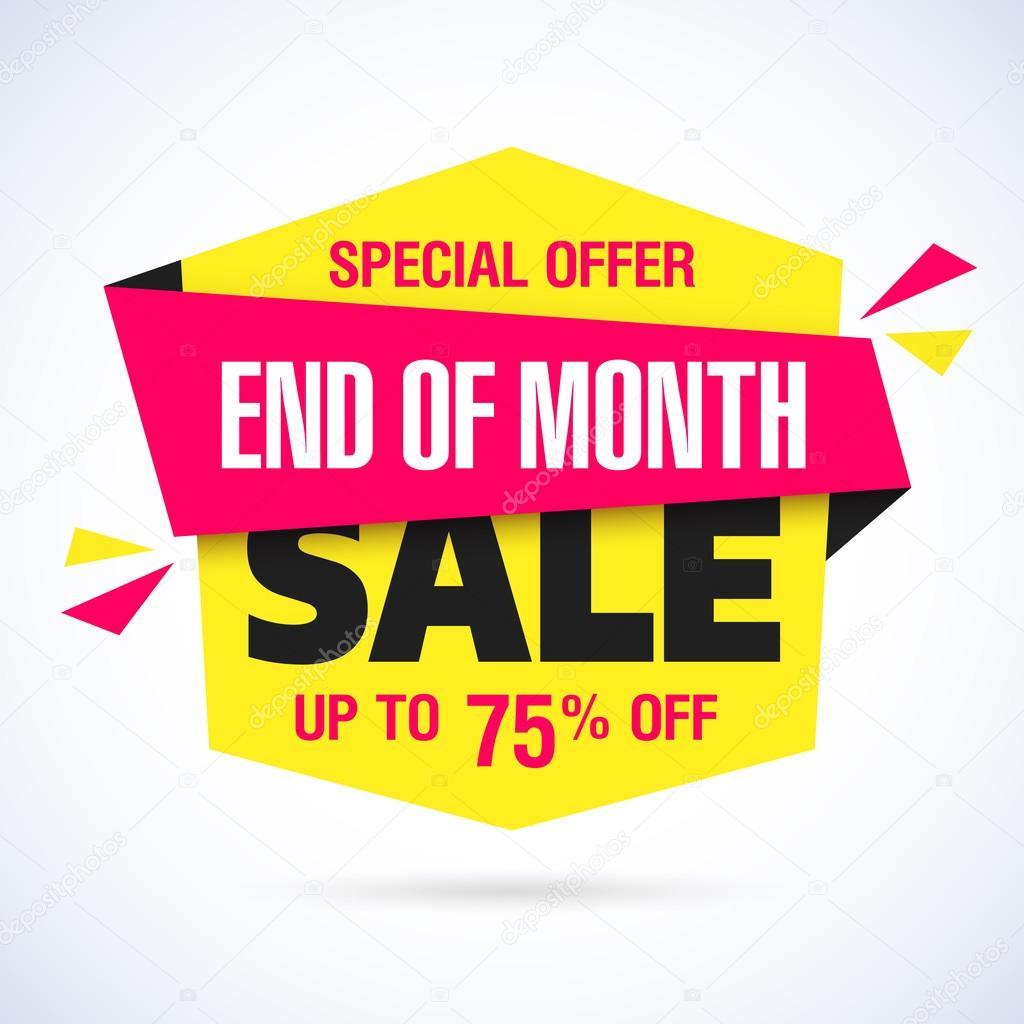 feeae64901d12f Einde van de maand verkoop banner — Stockvector © Alhovik  121642670