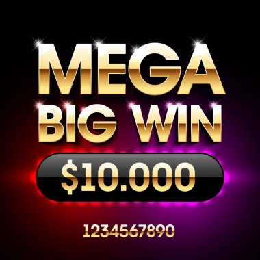 Win banner for lottery or casino games
