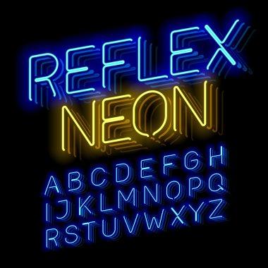Reflex Neon font.