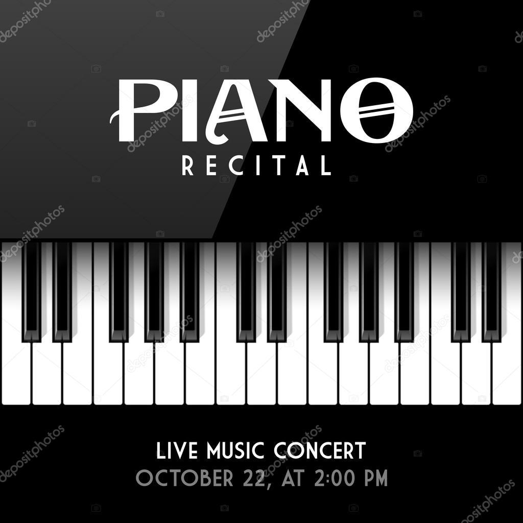 Cartel del recital de piano — Archivo Imágenes Vectoriales © Alhovik ...