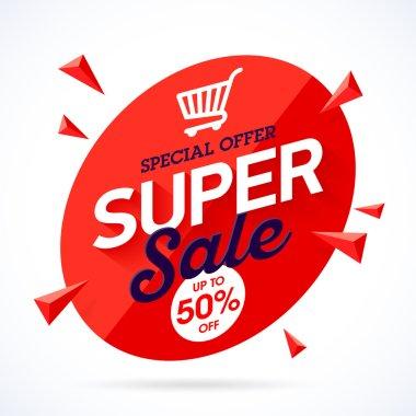 Super Sale special offer banner