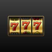 Fotografia Sette fortunati su slot machine