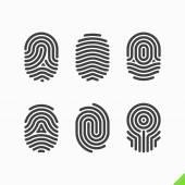 Fingerabdruck Icons set