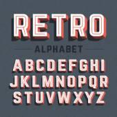 Fotografie Retro style 3d alphabet