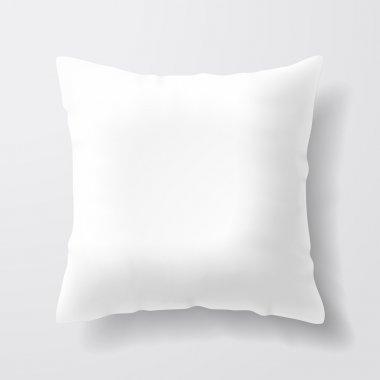Blank white square pillow