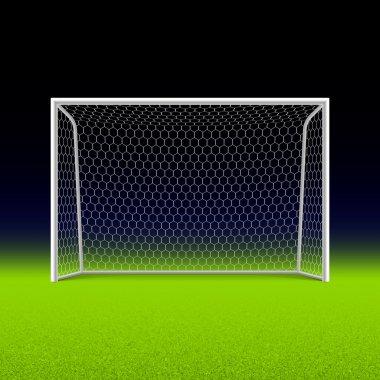 Soccer goal on black