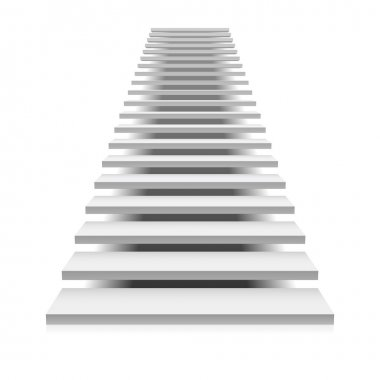 White staircase way up