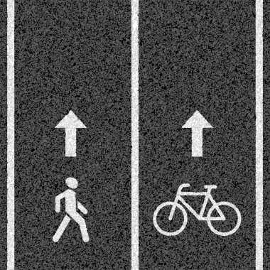Bicycle and pedestrian paths