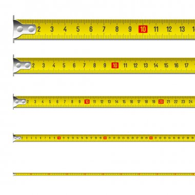 Tape measure in centimeters isolated on white background clip art vector