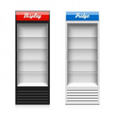 Upright glass door display fridge template