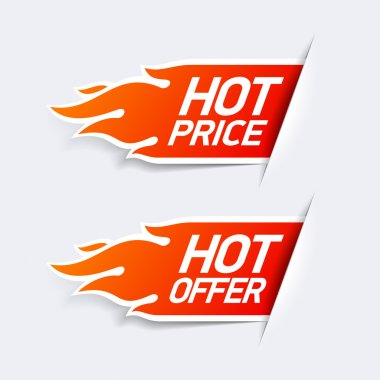 Hot Price and Hot Offer labels