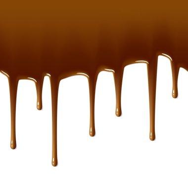 Milk chocolate drips