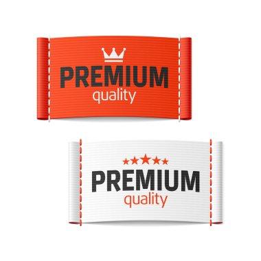 Premium quality clothing label