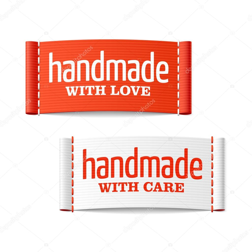 Handmade with love and care labels