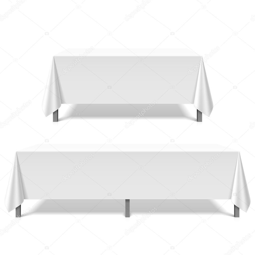 흰 식탁보로 덮여 테이블 — 스톡 벡터 © Alhovik #69938757