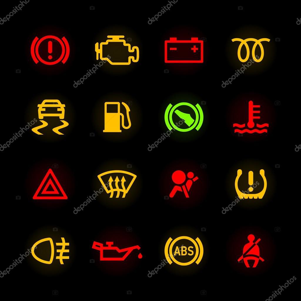 Pictogrammen Auto Dashboard Archidev