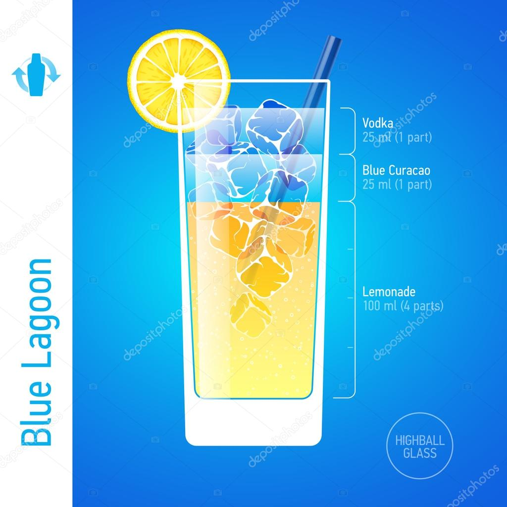 Long Island Iced Tea Cocktail Ingredients Vector Image By C Alhovik Vector Stock 69939375