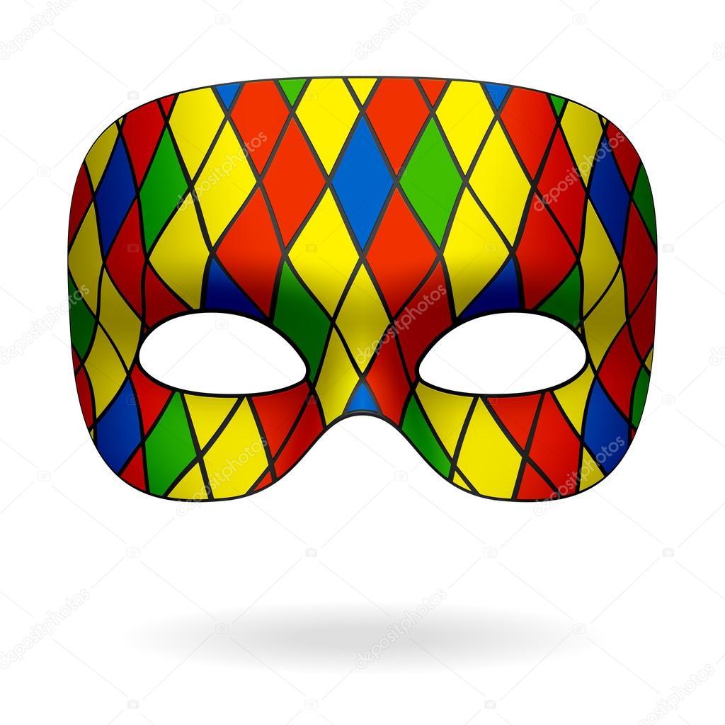 Masque Arlequin Image Vectorielle Alhovik 69939531