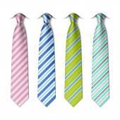 Photo Striped silk ties template