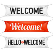 Dobrý den a Vítejte nápisy