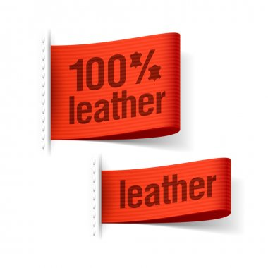 100 percent leather product clothing labels