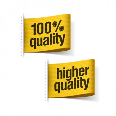 100 percent higher quality product labels