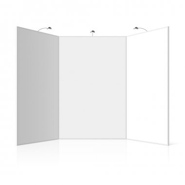 Portable folding presentation display board