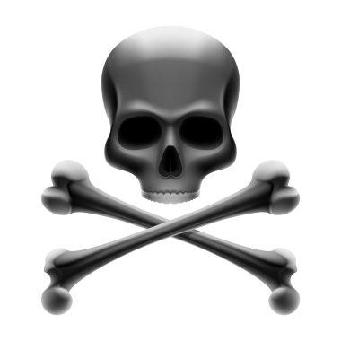 Skull with bones Jolly Roger