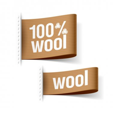 100 percent wool product clothing labels