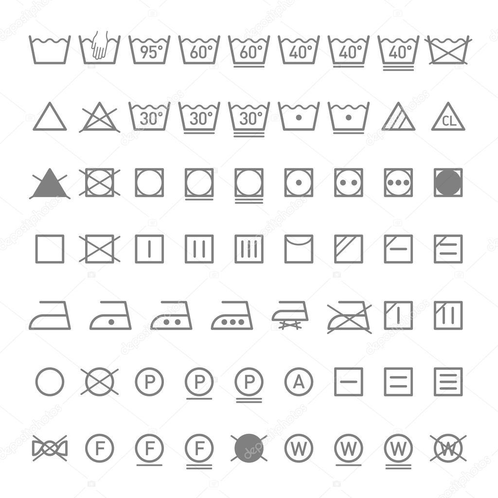 Laundry Symbols Stock Vector Alhovik 69940143