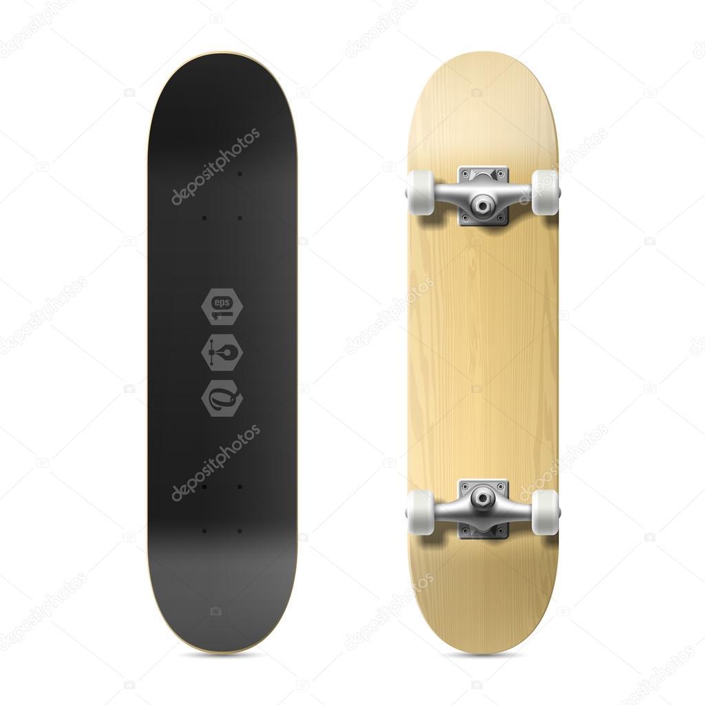 Holz leere skateboard — Stockvektor © Alhovik #69940273