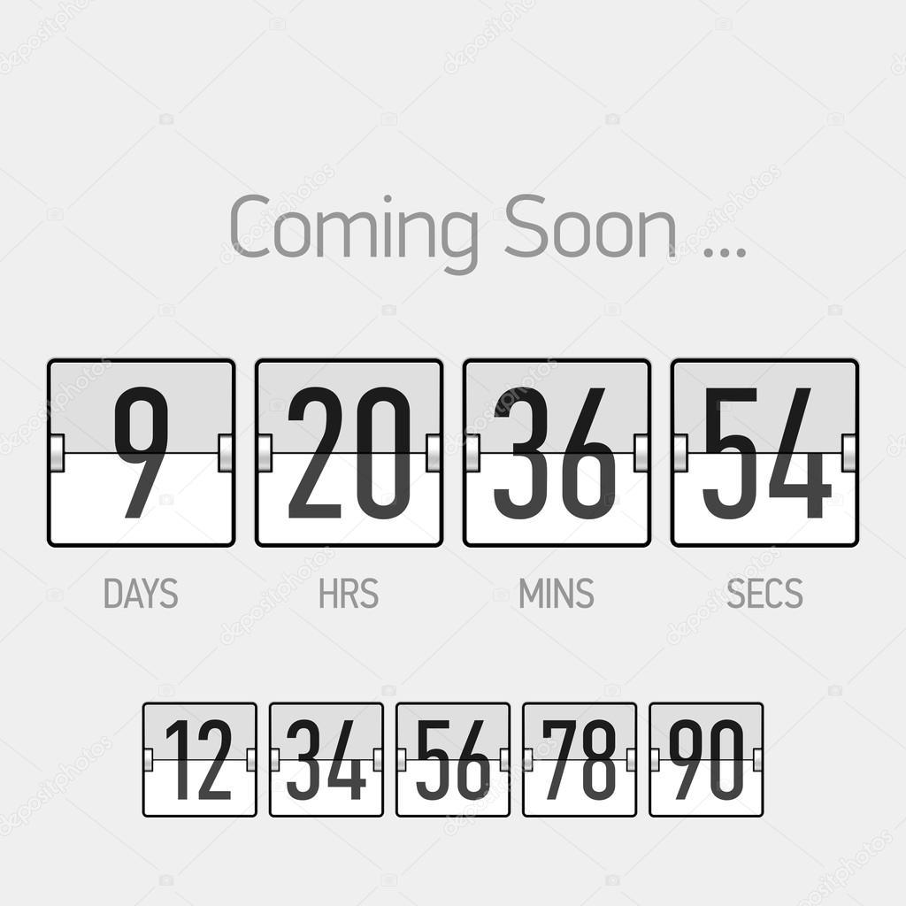 Countdown timer template — Stock Vector © Alhovik #69940623