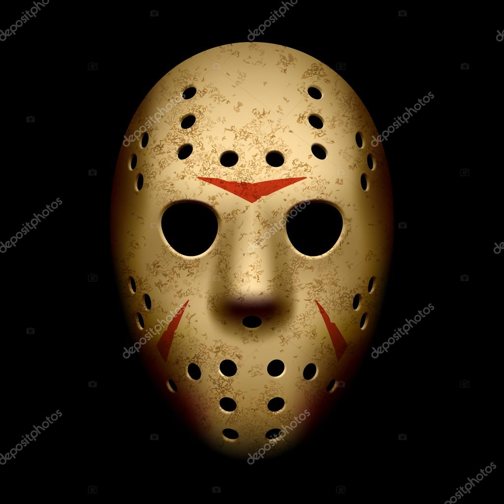 Scary hockey mask