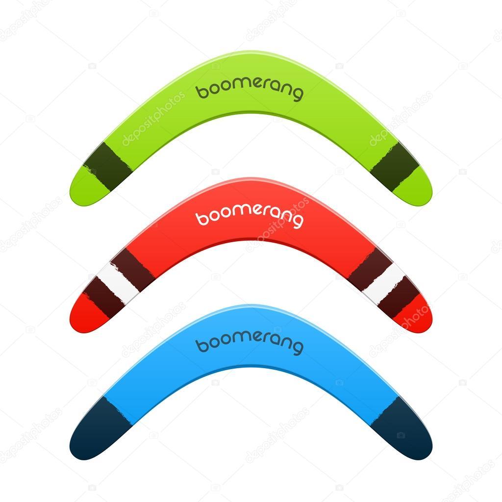 Bumerang-Abbildung — Stockvektor © Alhovik #69942079