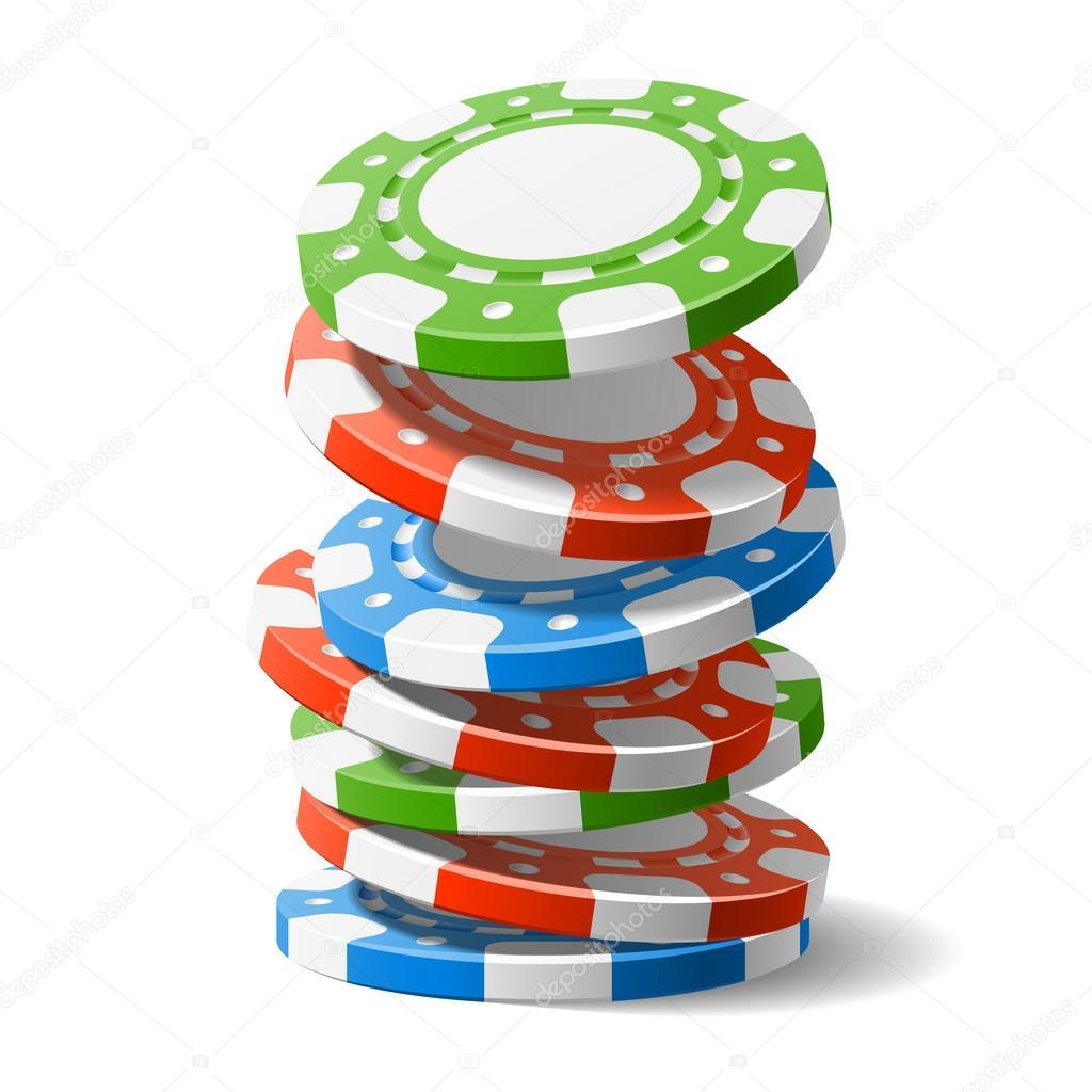 falling casino chips � stock vector 169 alhovik 69942803