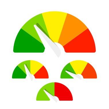 Speedometer or rating meter signs