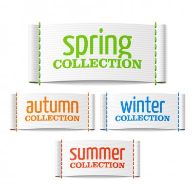 clothing collection labels