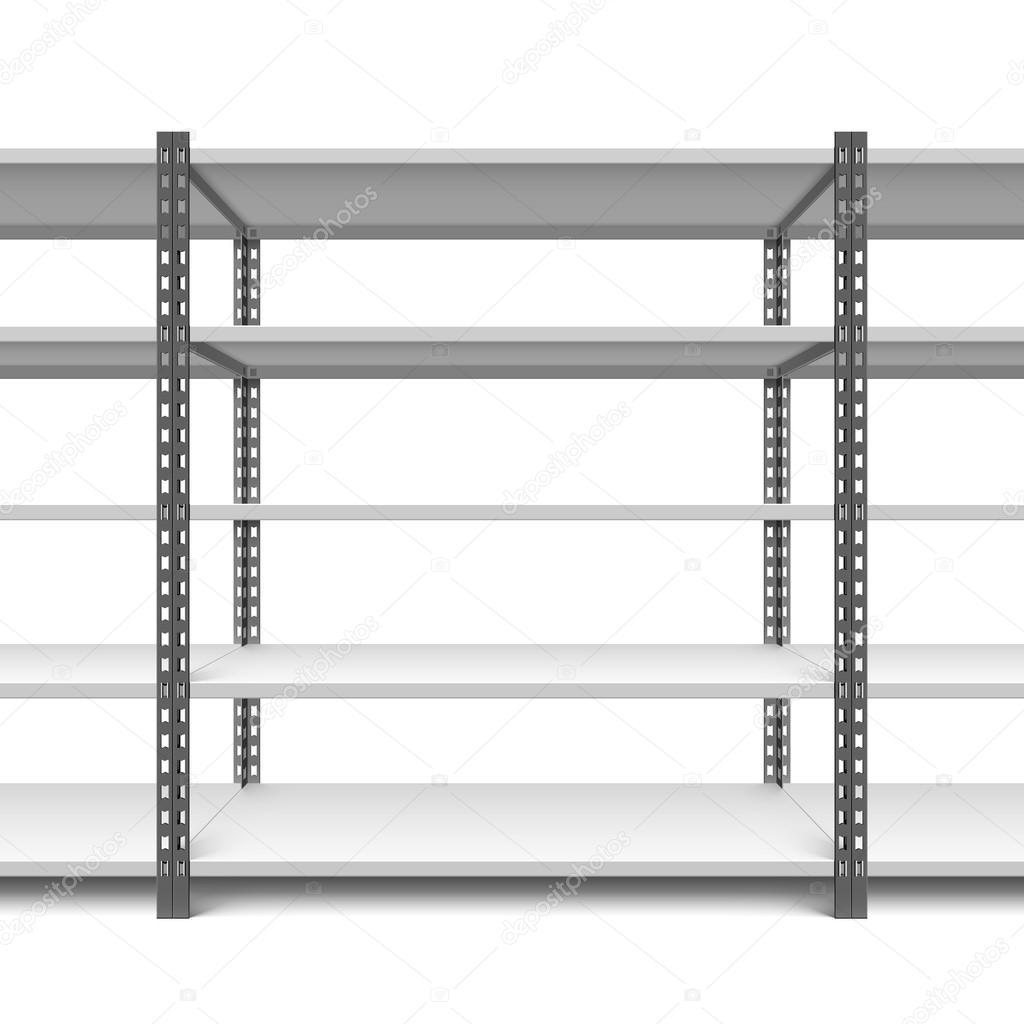 Leere Schränke Regale — Stockvektor © Alhovik #78419270