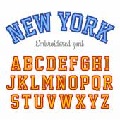 New York, embroidered font